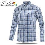 [아놀드파마] 파스텔 체크 배색 남성 캐쥬얼 긴팔 셔츠/골프웨어_AMS8WS51