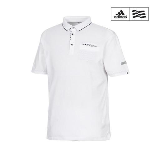 [아디다스골프] 남성 포켓 배색 카라반팔 티셔츠 A04255_GA