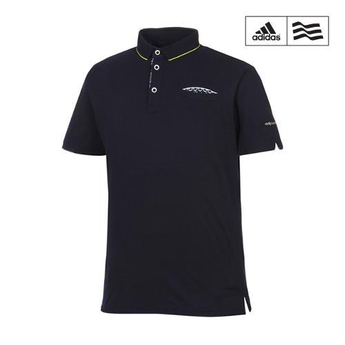 [아디다스골프] 남성 포켓 배색 카라반팔 티셔츠 A04256_GA