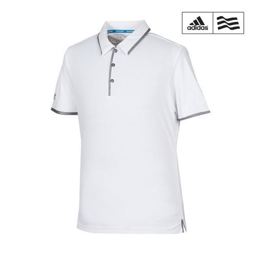 [아디다스골프] 남성 배색 캐주얼 카라반팔 티셔츠 B81981_GA