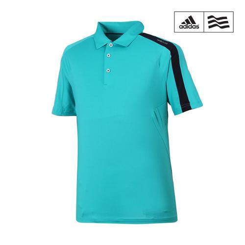 [아디다스골프] 남성 심플 라인배색 카라반팔 티셔츠 B87433_GA