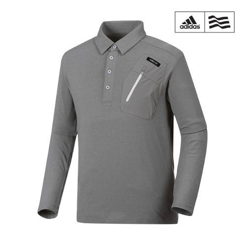 [아디다스골프] 남성 우븐포켓배색 카라넥 티셔츠 Z98078_GA