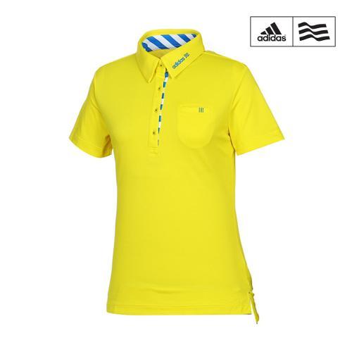 [아디다스골프] 여성 스트라이프 스포트 카라반팔 티셔츠 B87048_GA