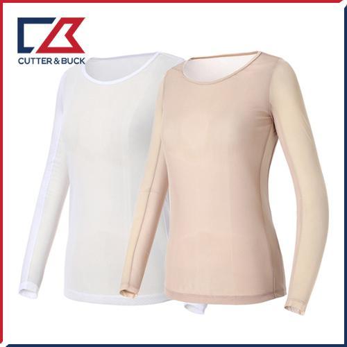 커터앤벅 여성 메쉬 스판소재 기능성 라운드 긴팔티셔츠 - PB-11-182-201-01