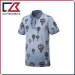 커터앤벅 남성 면 열기구 패턴포인트 카라 반팔티셔츠 - SL-12-172-101-60