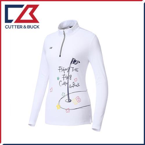 커터앤벅 여성 스판 프린팅 긴팔티셔츠 - SL-11-171-201-32