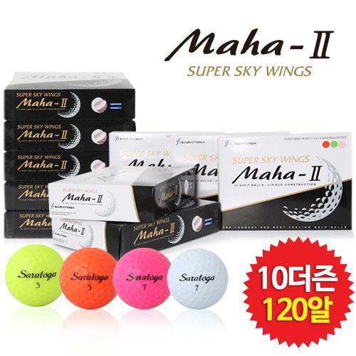 ★10더즌 특별구성★ 비거리 전용 골프공 마하II 컬러 골프공 12알*10더즌(총120알)