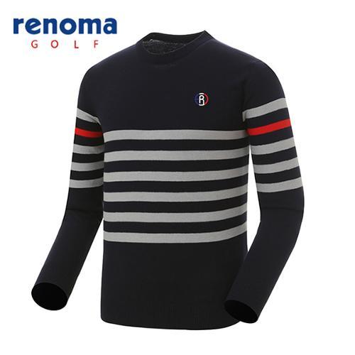 [레노마골프]남성 스트라이프 배색 스웨터 RMSRG1205-120