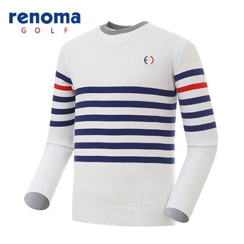 [레노마골프]남성 스트라이프 배색 스웨터 RMSRG1205-100