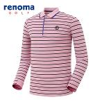 [레노마골프]남성 스트라이프 카라 티셔츠 RMTPG1106-411