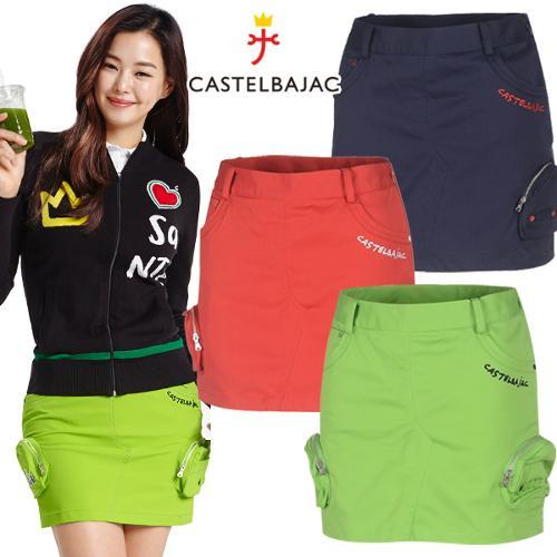 [까스텔바작] 면스판 카고 포켓 캐쥬얼 여성 골프 큐롯/골프웨어_243704