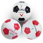 [등급A] 브랜드 혼합 축구공 무늬 로스트볼 10알 LBMIX016