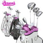 [해외구매대행] 파슨스 여성 하프 세트 Persons Ladies set 여성용 골프 클럽 세트 골프 가방 포함 L 플렉스