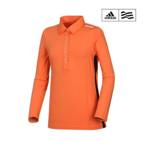 [아디다스골프] 여성 배색 컬러 카라 티셔츠 S46043_GA