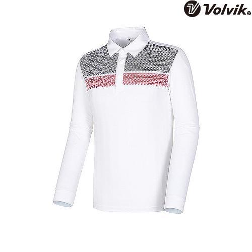 [볼빅브이닷] 남성 투블럭브이 블락킹 티셔츠 VMTSI202_WH