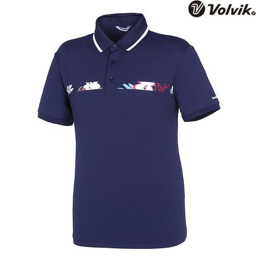 [볼빅브이닷] 남성 트로피컬 패턴 포인트 티셔츠 VMTSH601_NA