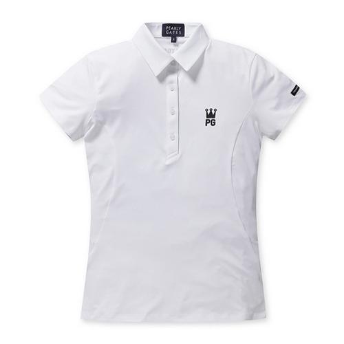 [파리게이츠]여성 로고 배색 카라 반팔 티셔츠 52292TS955_WH