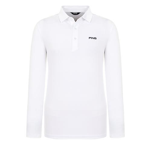[핑]남성 메쉬 믹스 솔리드 티셔츠 11291TO902_WH
