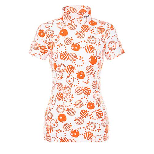 [핑]여성 올오버 프린트 반팔 이너 티셔츠 12291TI964_OR