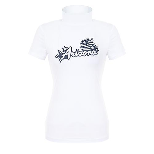 [핑]여성 레터링 프린트 반팔 이너 티셔츠 12291TI959_WH