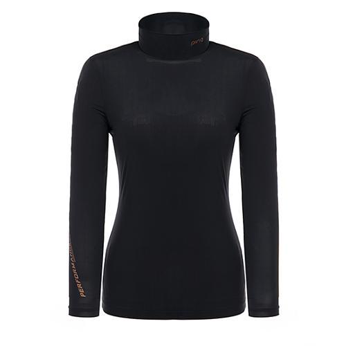 [핑]여성 메쉬 패치 솔리드 이너 티셔츠 12291TI955_BK