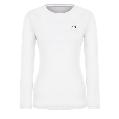 [핑]여성 솔리드 냉감 라운드넥 티셔츠 12291TI954_WH
