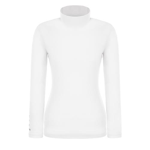 [핑]여성 하이넥 솔리드 냉감 베이스 티셔츠 12291TI953_WH