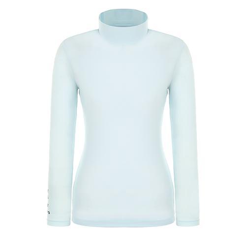 [핑]여성 하이넥 솔리드 냉감 베이스 티셔츠 12291TI953_BL