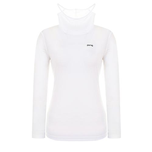 [핑]여성 하이넥 냉감 베이스 티셔츠 12291TI956_WH
