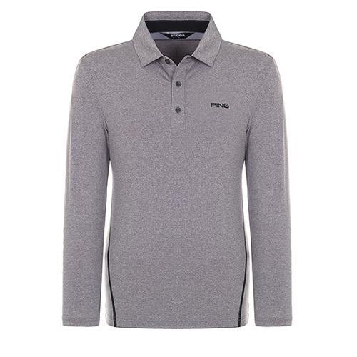 [핑]남성 배색 라인 긴팔 카라 티셔츠 11181TO012_MG