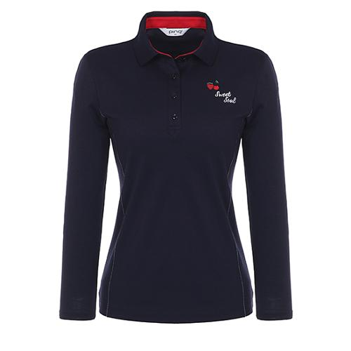 [핑]여성 스티치 라인 긴팔 피케 티셔츠 12181TO056_NA