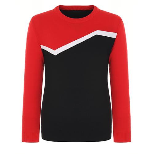 [핑]남성 컬러 블록 코튼 크루넥 스웨터 11181SR121_RE