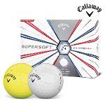 2019 캘러웨이 슈퍼소프트 골프공 12알 화이트볼 옐로우볼 골프볼 CALLAWAY SUPER SOFT BALL