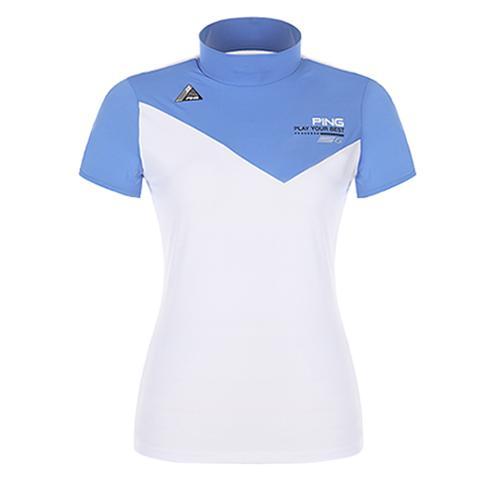 [핑]여성 스트레치 향균 하이넥 티셔츠 12162TH062_BL