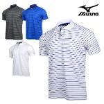 미즈노 보더 남성 반팔 티셔츠_52MA9004_의류 골프웨어 MIZUNO BORDER SHIRT