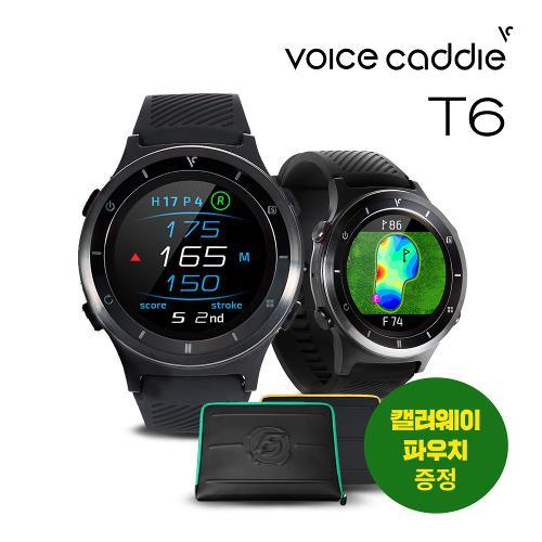 [캘러웨이 파우치 증정]보이스캐디 T6 GPS 시계형 골프 거리측정기/필드용품