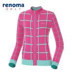 [레노마골프]여성 격자무늬 집업 스웨터 RAKC53511-PK