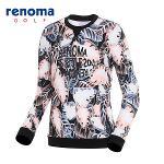 [레노마골프]여성 나염 레터링 프린트 티셔츠 RATS69611-LP