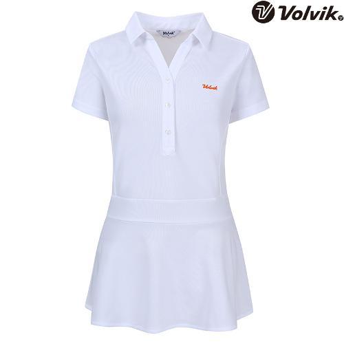 [볼빅브이닷] 여성 에리변형 반팔 티셔츠 VLTSH474_WH