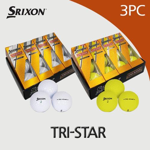 던롭 스릭슨 TRI-STAR 트라이스타3피스 골프공(12알)