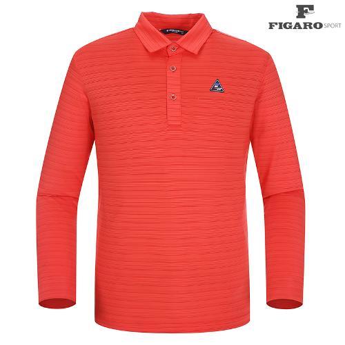 ★[피가로스포츠] 남성 패턴 카라 티셔츠 FASTS003M_RE