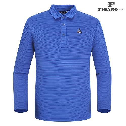 ★[피가로스포츠] 남성 패턴 카라 티셔츠 FASTS003M_BL