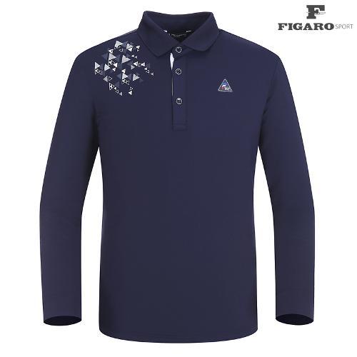 ★[피가로스포츠] 남성 도형프린트 카라 티셔츠 FASTS004M_NA