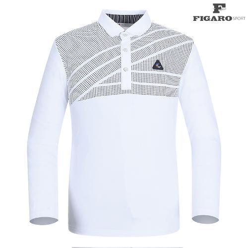 ★[피가로스포츠] 남성 사선 패턴 카라 티셔츠 FASTS007M_WD