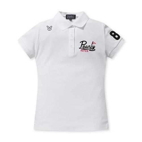 [파리게이츠]여성 슬림핏 배색 로고 카라 티셔츠 52292TS951_WH
