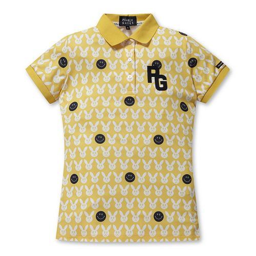 [파리게이츠]여성 슬림핏 스마일 패턴 카라 티셔츠 52292TS956_YL