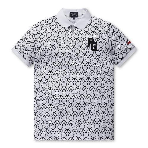 [파리게이츠]남성 올오버 스마일 바니 카라 티셔츠 51292TS903_WH