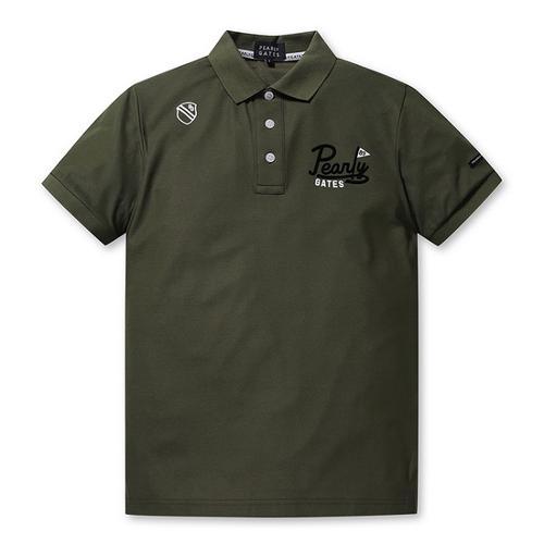 [파리게이츠]남성 로고 레귤러 카라 반팔 티셔츠 51292TS901_KH
