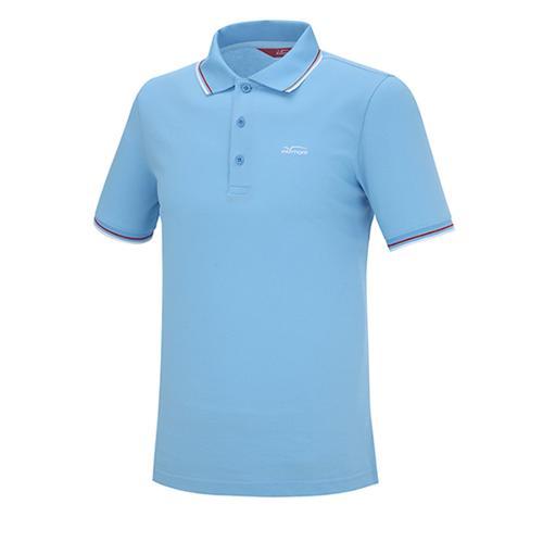 [팬텀]남성 컬러 라인 로고 반팔 카라 티셔츠 21152TO011_BL