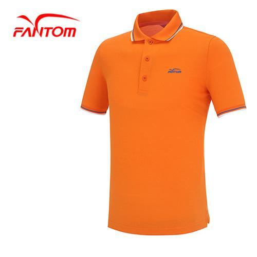 [팬텀]남성 컬러 라인 로고 반팔 카라 티셔츠 21152TO011_OR